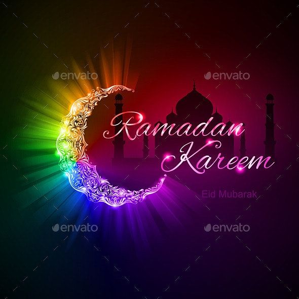 Greeting Card of Holy Muslim month Ramadan - Religion Conceptual