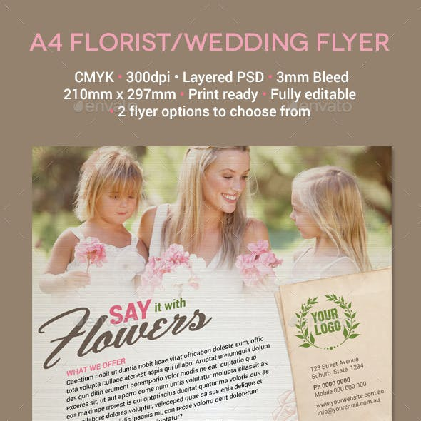 Florist / Wedding A4 Flyer