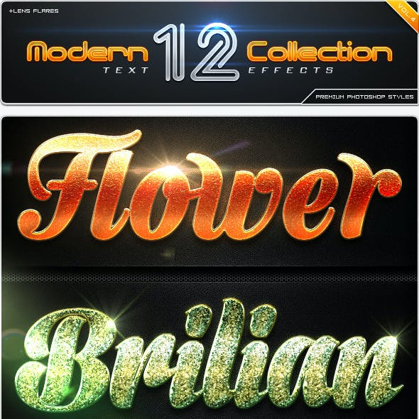 12 Modern Collection Text Effect Styles Vol.4