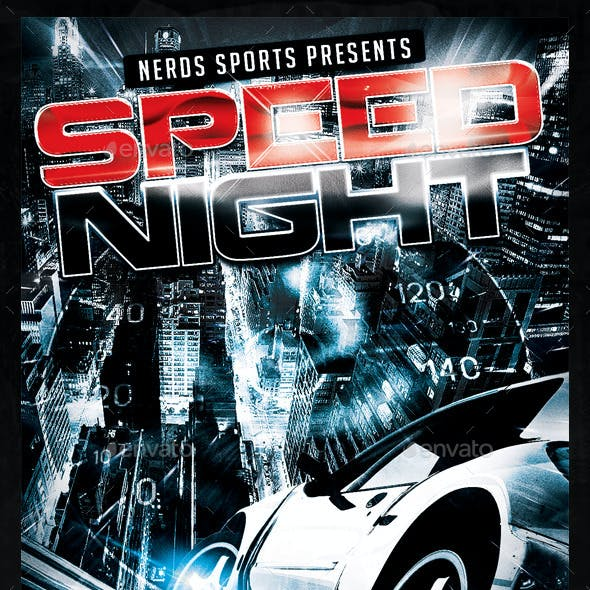 Speed Night Car Competition Flyer