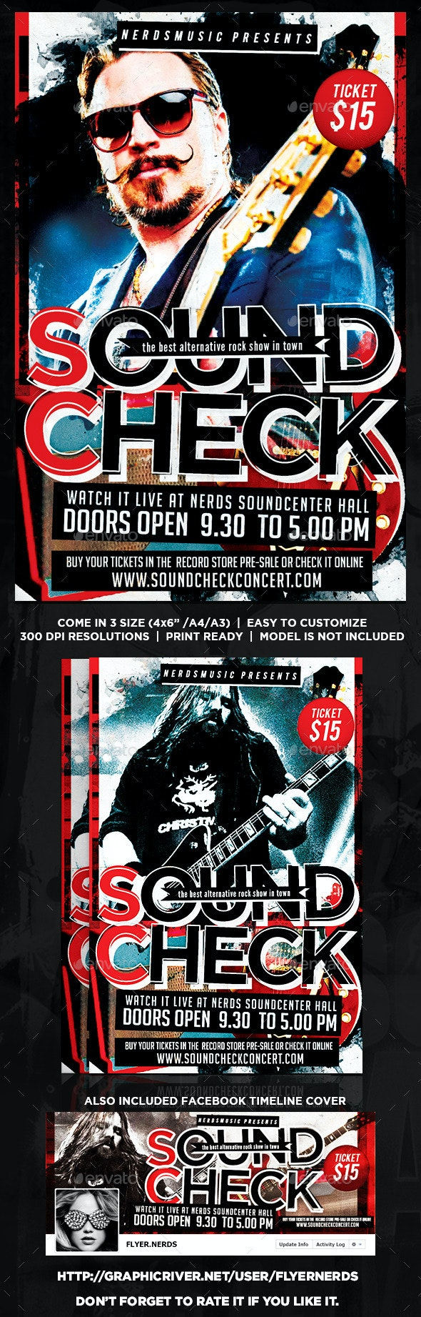Sound Check Music Flyer - Concerts Events