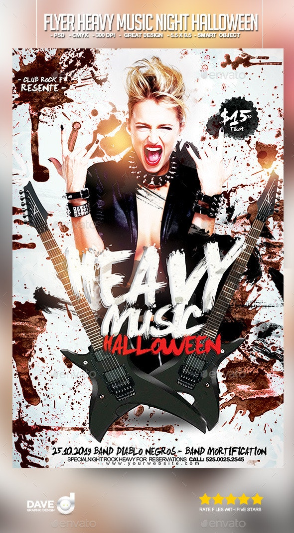 Flyer Heavy Music Night Halloween - Events Flyers