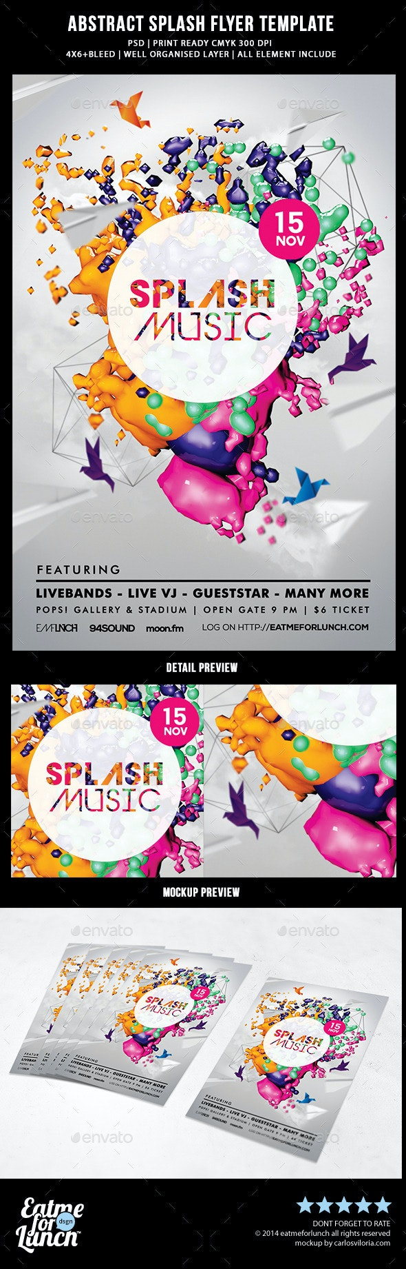 Abstract Splash Flyer Templates - Events Flyers
