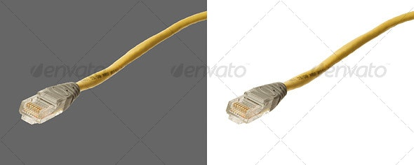 CAT5 Network Cable - Technology Isolated Objects