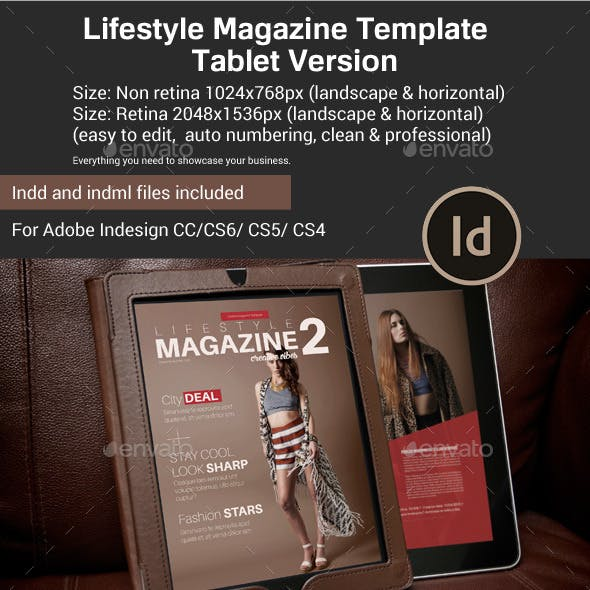 Lifestyle Magazine Template Tablet Version