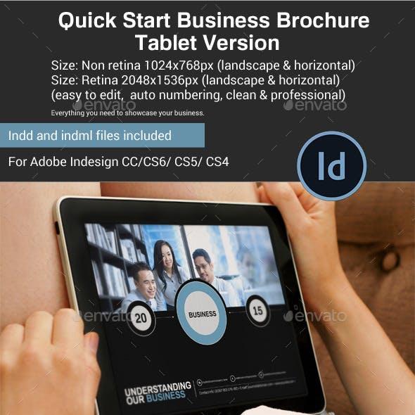 Quick Start Business Brochure Tablet Version