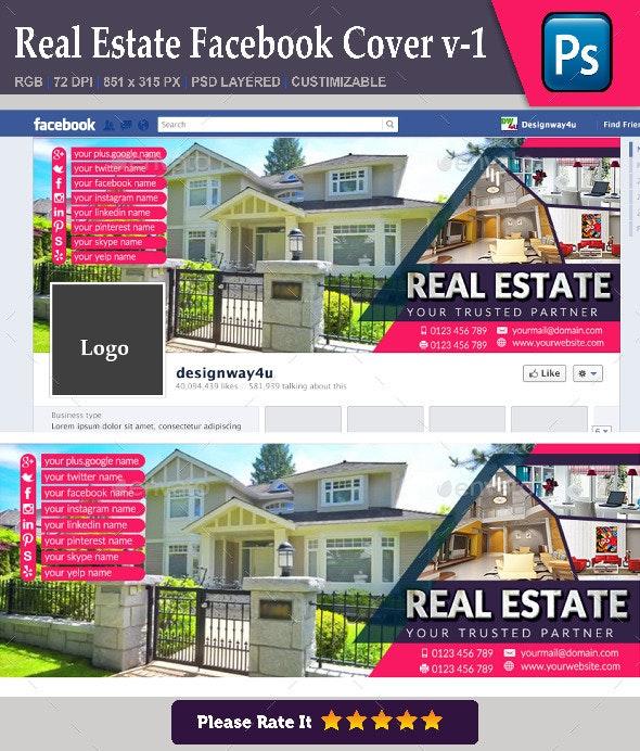 Real Estate Facebook Cover v-1 - Facebook Timeline Covers Social Media