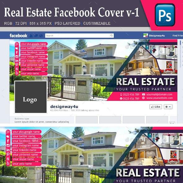Real Estate Facebook Cover v-1