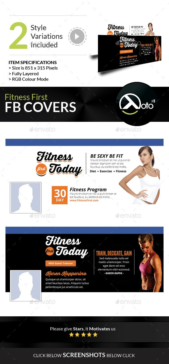 Fitness First Today Health Promotional FB Banners - Facebook Timeline Covers Social Media