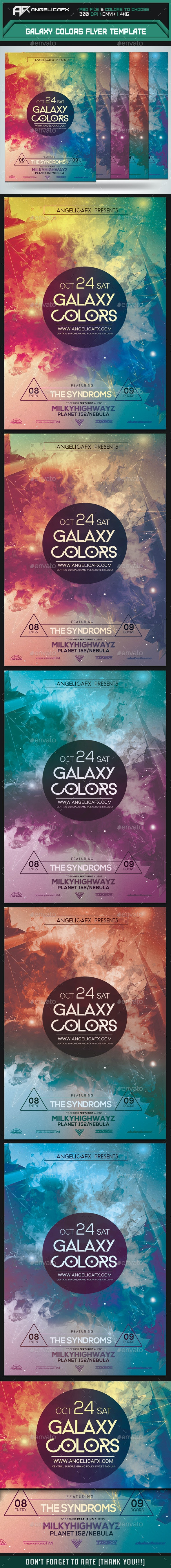 Galaxy Colors Flyer Template - Flyers Print Templates