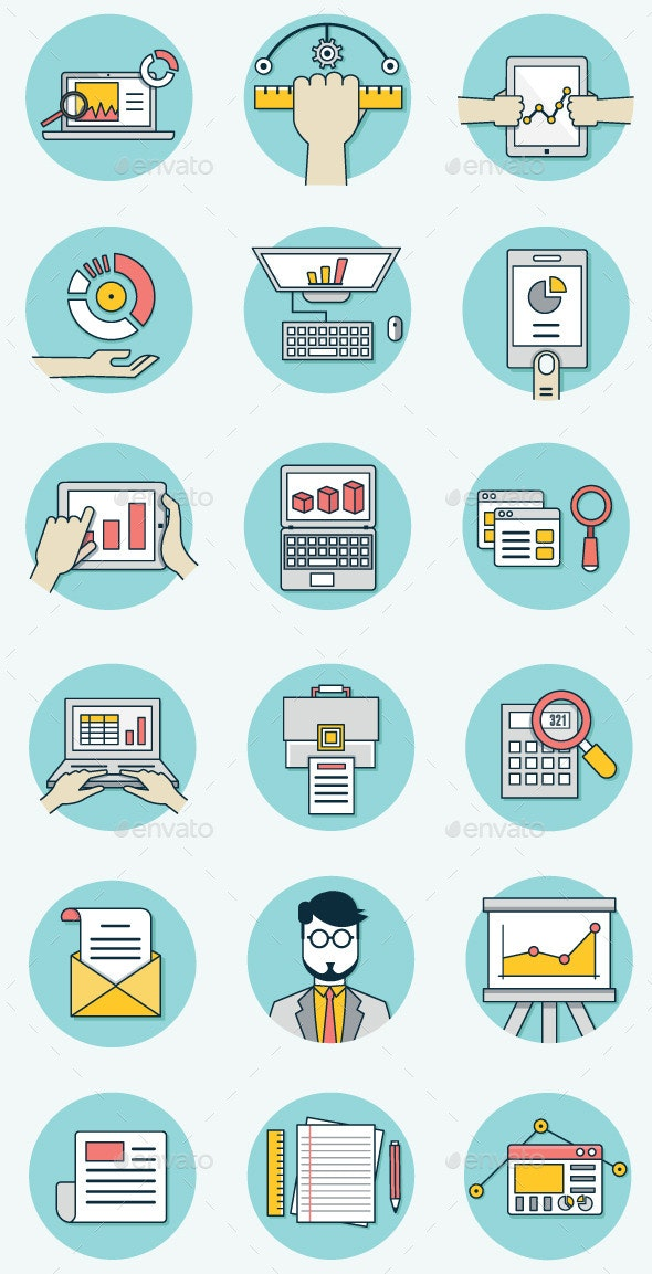 Analytics Icons for Business