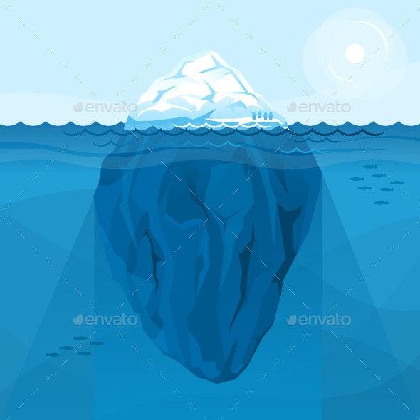 Full Big Iceberg in the Sea - Landscapes Nature