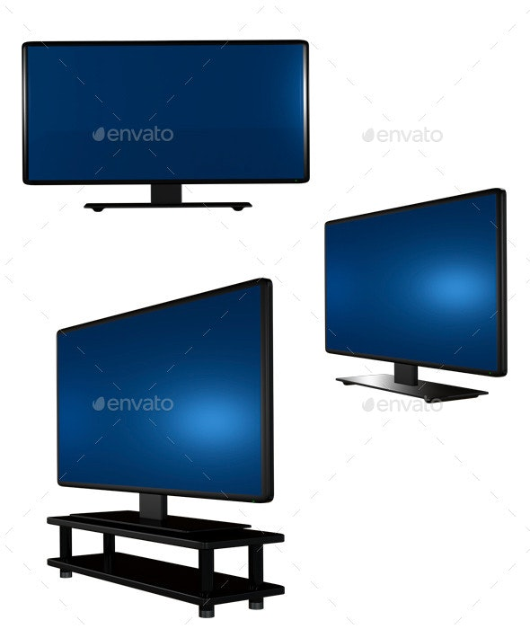 Television Set - Technology 3D Renders