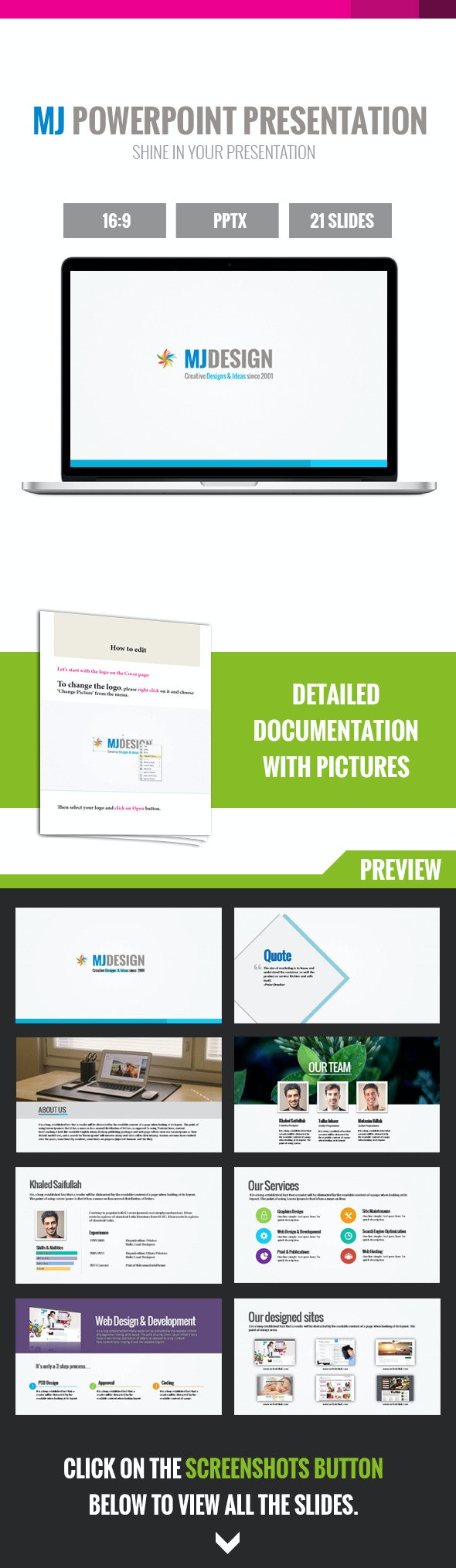 MJ Creative Powerpoint Presentation - Creative PowerPoint Templates