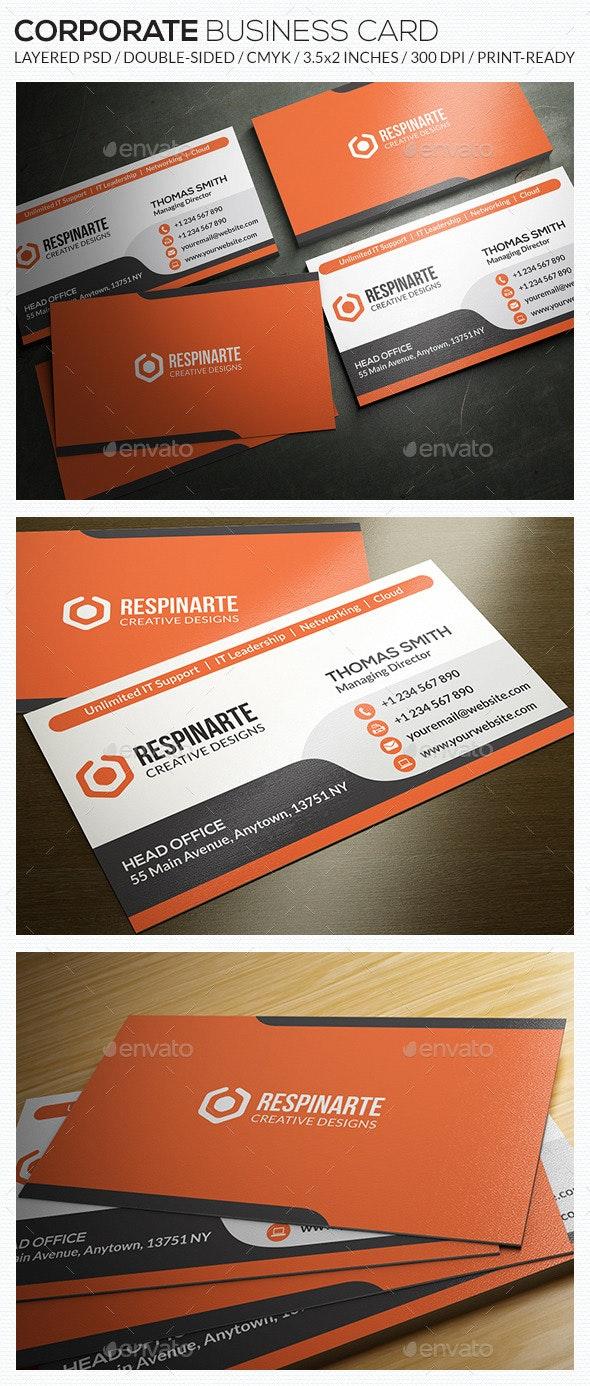 Corporate Business Card - RA56 - Corporate Business Cards
