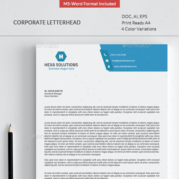 Letterhead with Ms-Word
