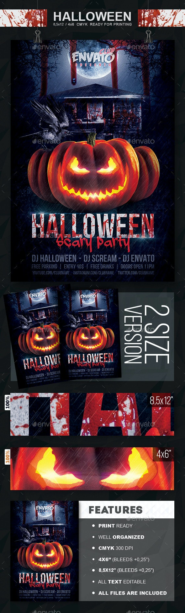 Halloween Scary Party Flyer - Events Flyers