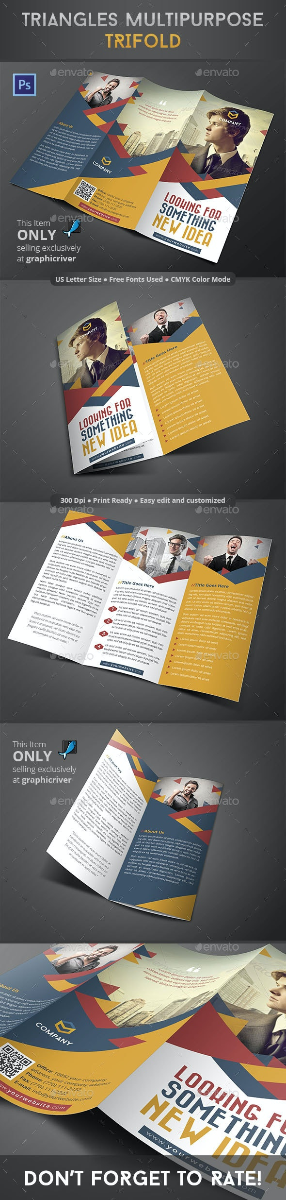 Triangles Multipurpose Trifold - Informational Brochures