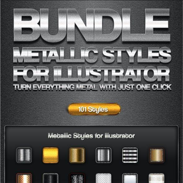 Bundle-Metallic Styles for Illustrator