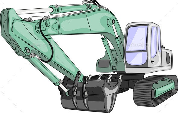 Heavy Excavator - Man-made Objects Objects