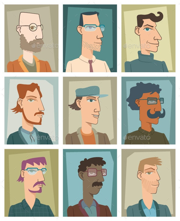 Nine Young Men - People Characters