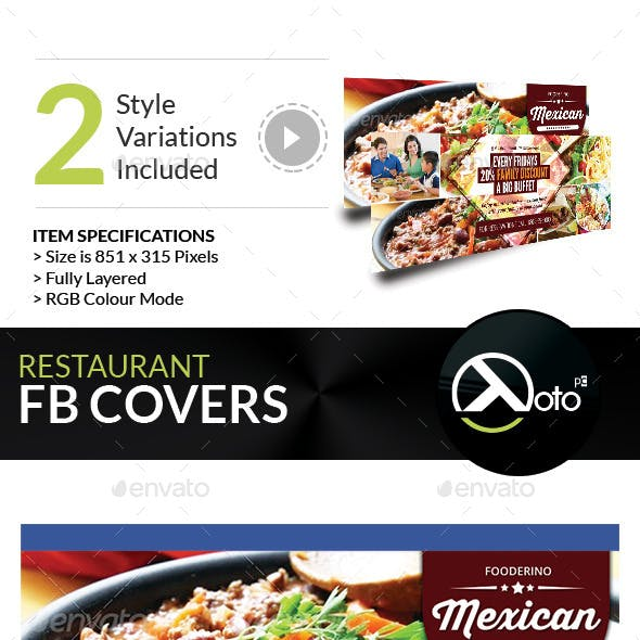Mexican Restaurant Promotion FB Covers