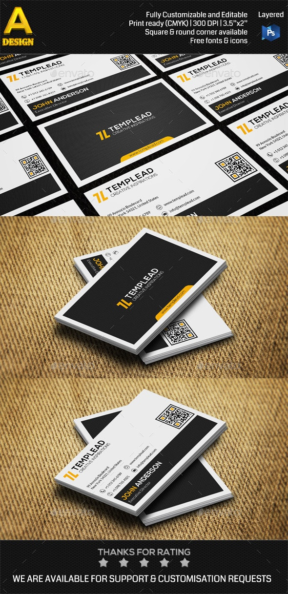 Modern Personal Business Card AN0417 - Corporate Business Cards