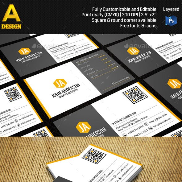 Modern Personal Business Card AN0418