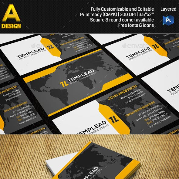 Modern Corporate Business Card AN0419