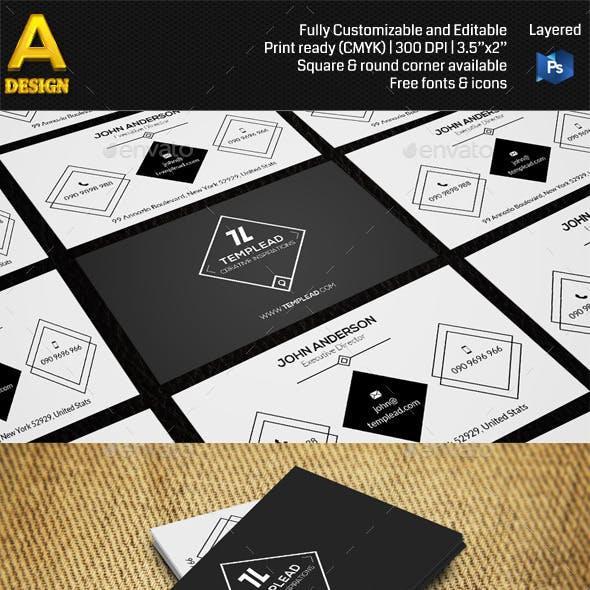 Retro Corporate Business Card AN0421
