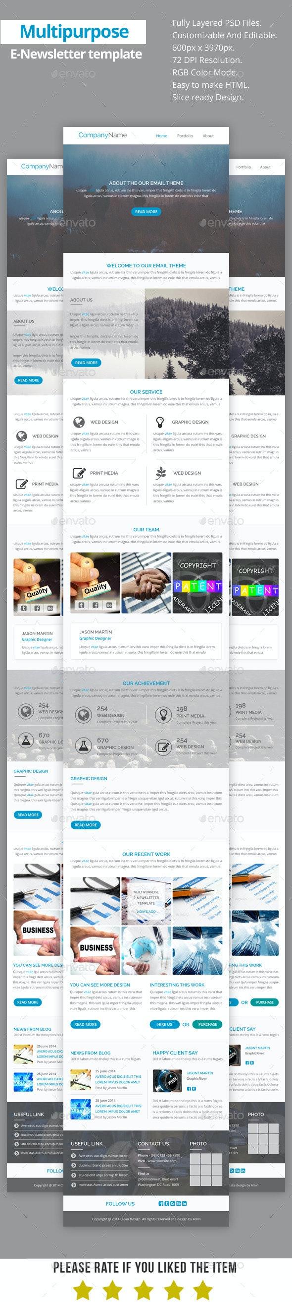 Multipurpose E-Newsletter Template V17