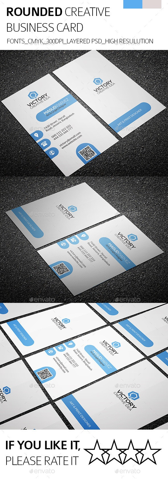 Rounded & Creative Business Card - Creative Business Cards