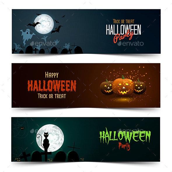 Happy Halloween Banner Set - Halloween Seasons/Holidays