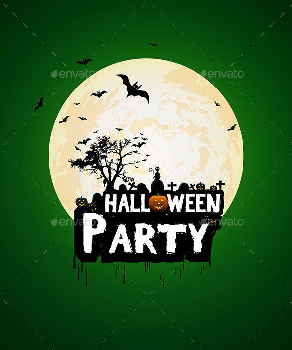 Halloween Night Poster Template - Halloween Seasons/Holidays