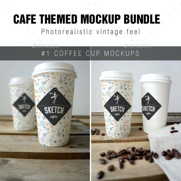 Cafe Branding Mockup Bundle