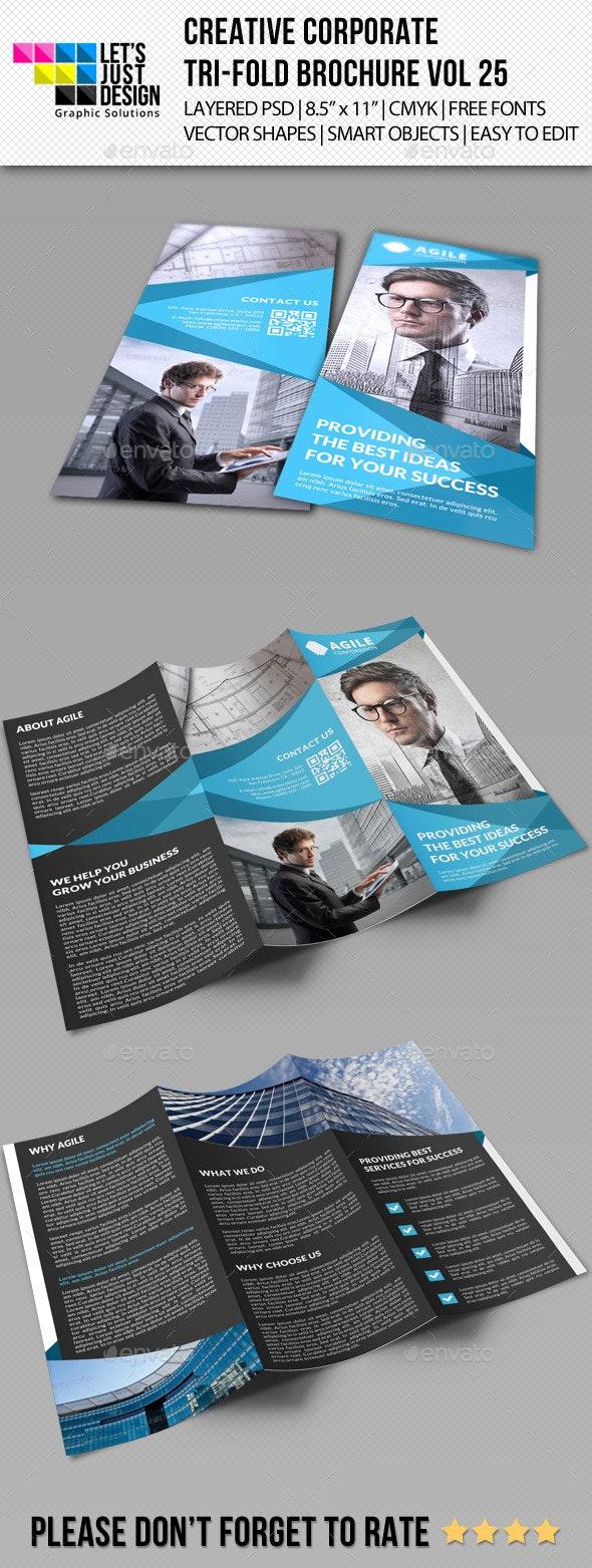 Creative Corporate Tri-Fold Brochure Vol 25 - Corporate Brochures