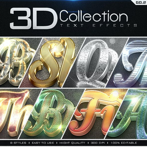 3D Collection Text Effects GO.2