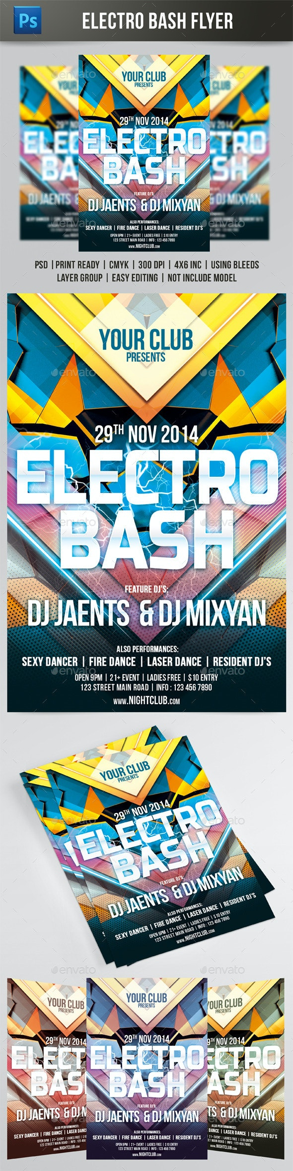 Electro Bash Flyer  - Events Flyers