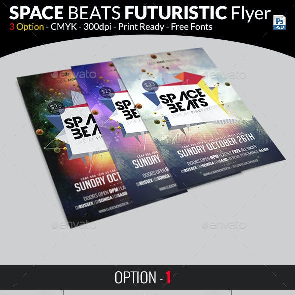 Space Beats Futuristic Flyer
