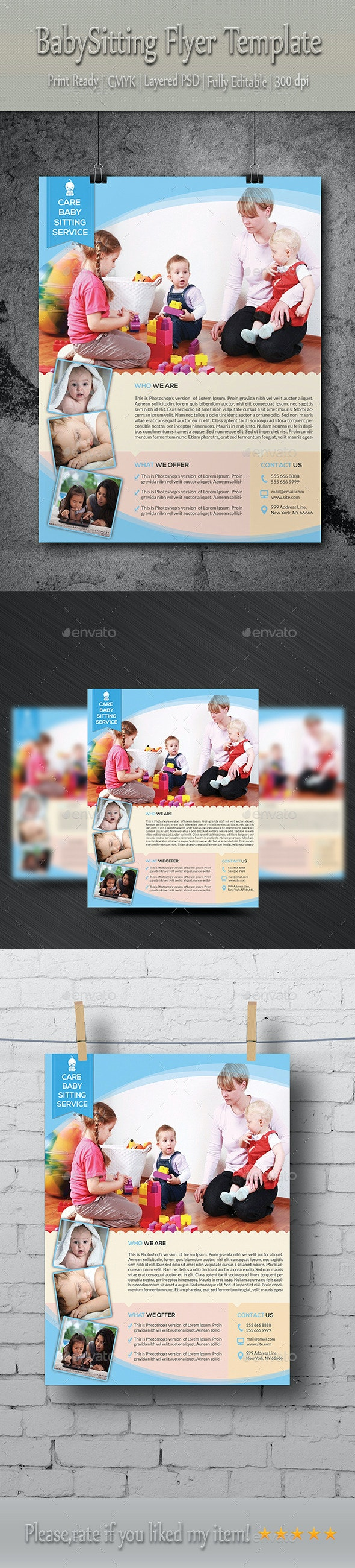 Babysitting & Daycare Flyer Template - Commerce Flyers