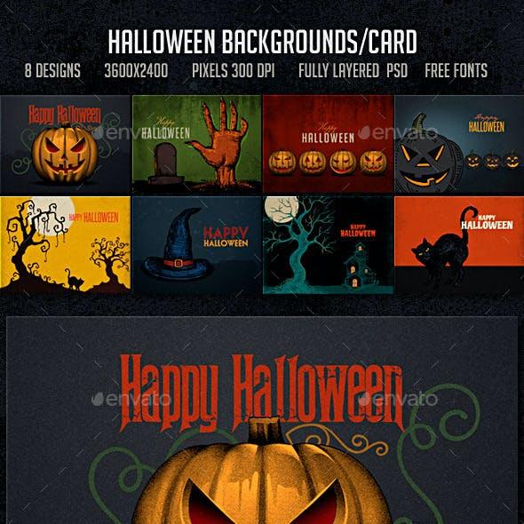 Halloween Backgrounds Card