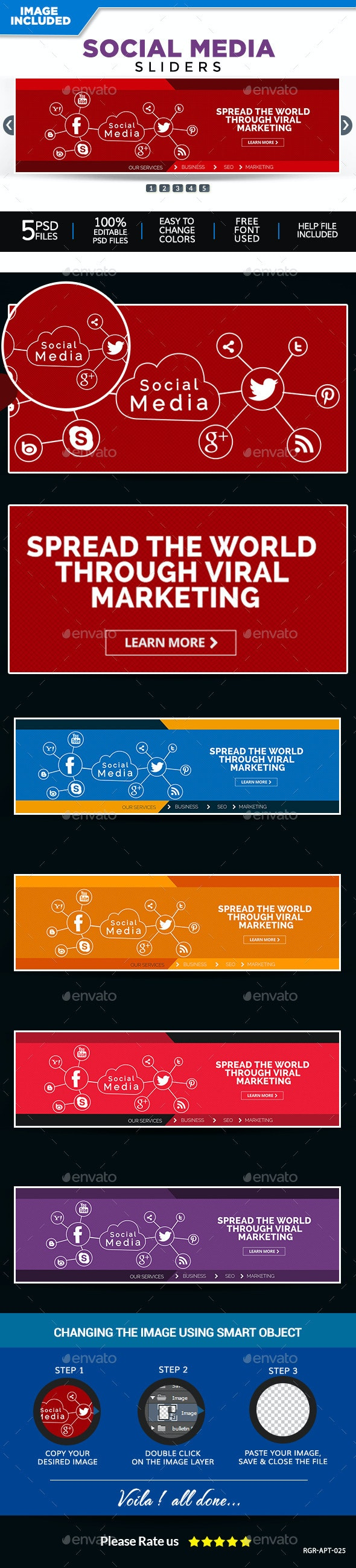 Social Media Sliders - Sliders & Features Web Elements