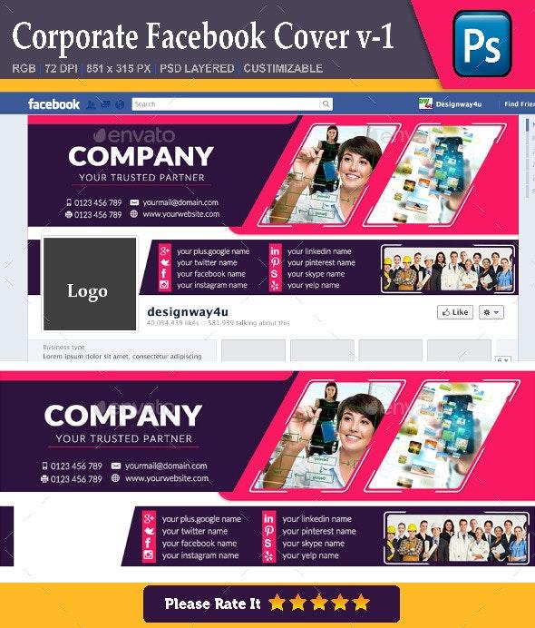 Corporate Facebook Cover v-1 - Facebook Timeline Covers Social Media