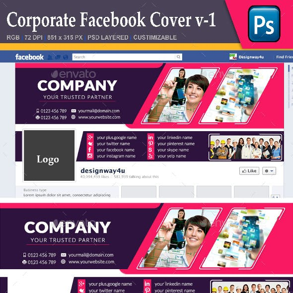 Corporate Facebook Cover v-1
