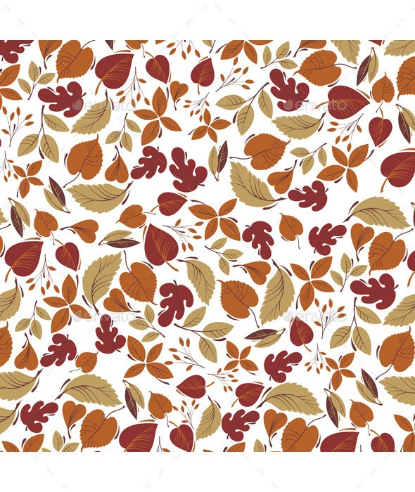 Background with  Autumn Leaves - Backgrounds Decorative