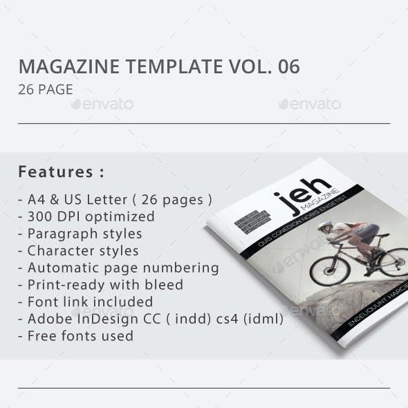 Indesign Magazine Template Vol.06