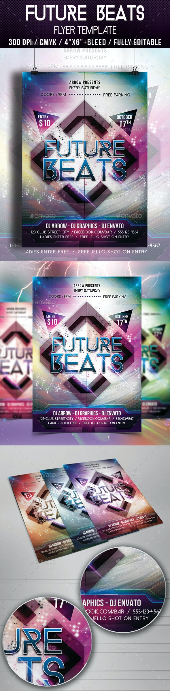 Future Beats Flyer Template - Clubs & Parties Events
