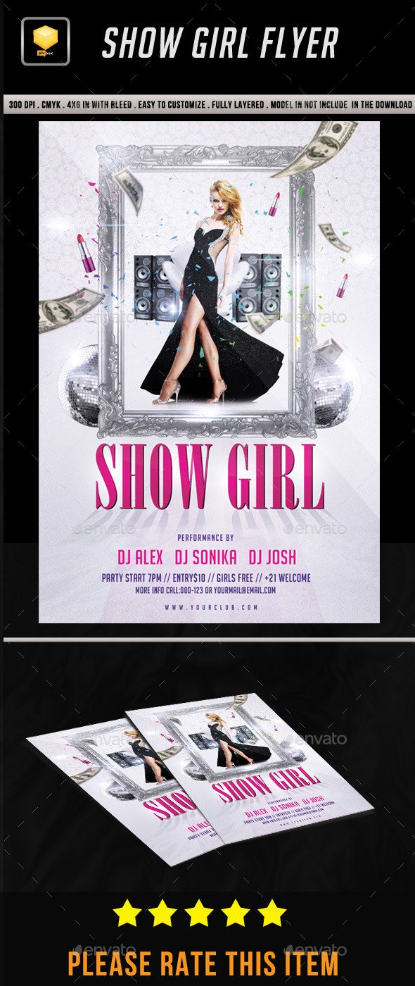 Show Girl Party Flyer - Clubs & Parties Events