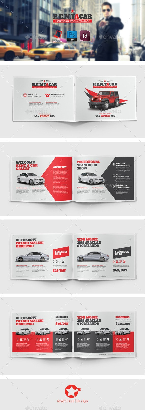 Rent A Car Brochure Templates - Brochures Print Templates