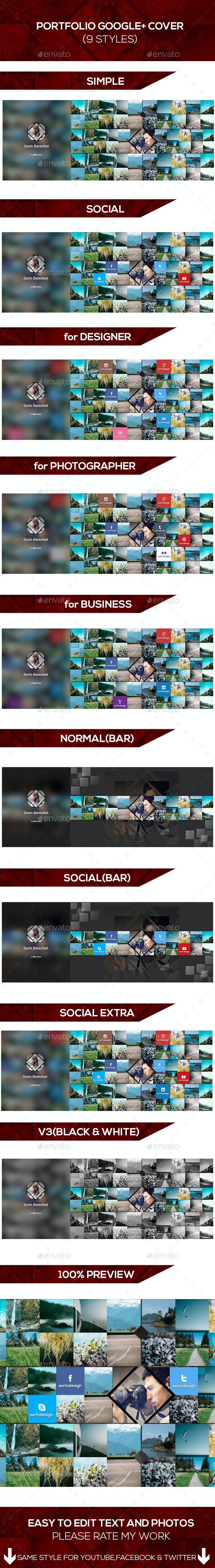 Portfolio Google Plus Covers Pack - Miscellaneous Social Media